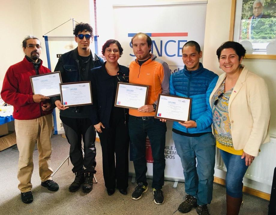 Esta certificaciónpermitirá a los alumnos desarrollar actividades de buceo en centros de cultivos de peces. Foto: Sence Aysén.