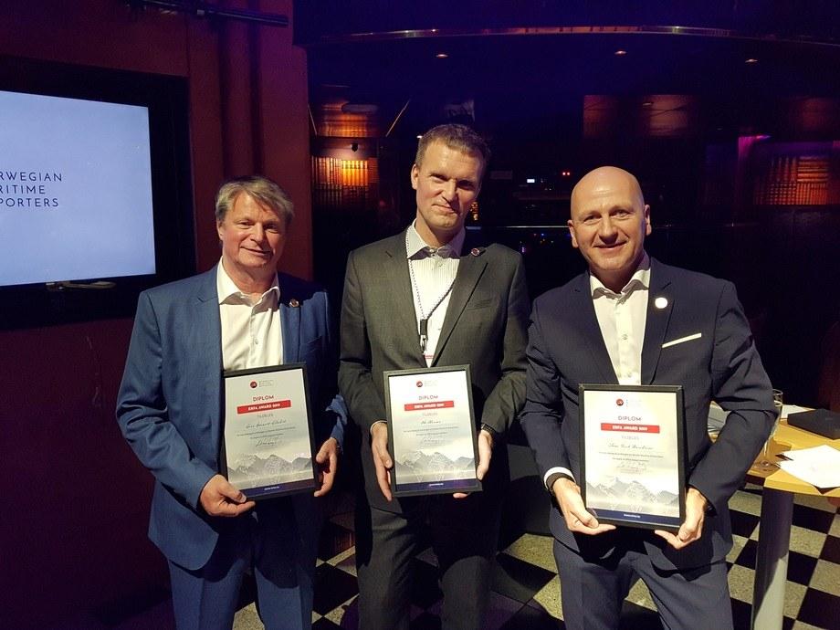 ERFA-prisen gikk til (f.v) Lars Gørvell-Dahll, Norsk Industri, Ole Henæs, Innovation Norge, Tom Erik Ranheim,TMC