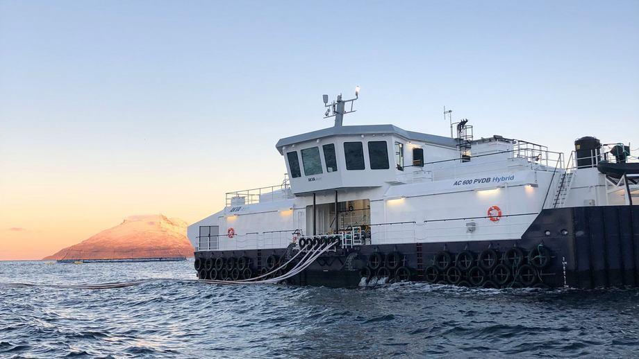 El barco de alimentación PVDB AC 600 es el pedido más grande del grupo AKVA para una sola embarcación. Foto: AKVA Group.