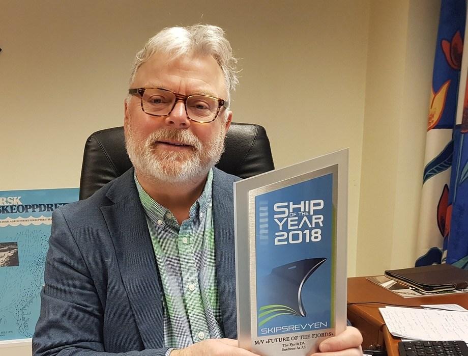 Ansvarlig redaktør i Skipsrevyen, Gustav Erik Blaalid, gleder seg over den enorme interessen for Ship of the Year.