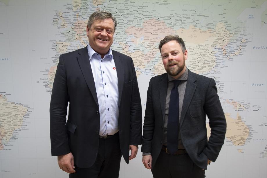 Fiskeriminister Harald T. Nesvik og næringsminister Torbjørn Røe Isaksen. Foto: Nærings- og fiskeridepartementet