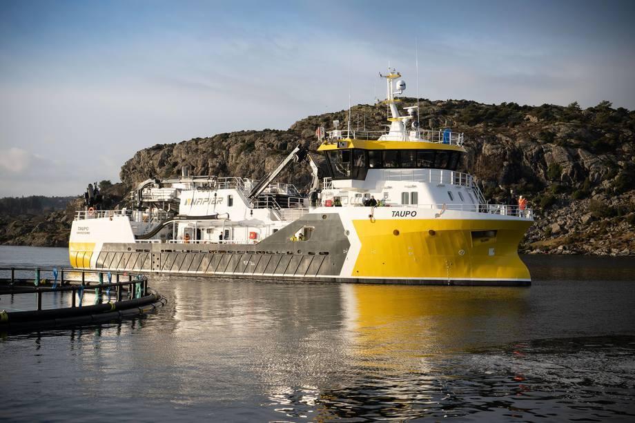 El nuevo barco de proceso de salmón