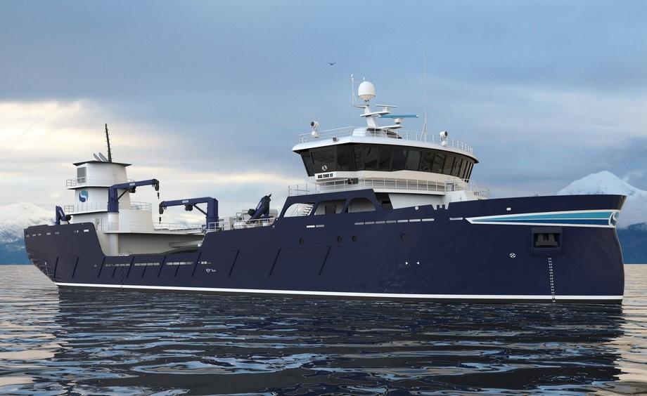 Verftet melder de skal bygge en ny båt for rederiet Sølvtrans. Fotoillustrasjon: Aas Mek. Verksted.