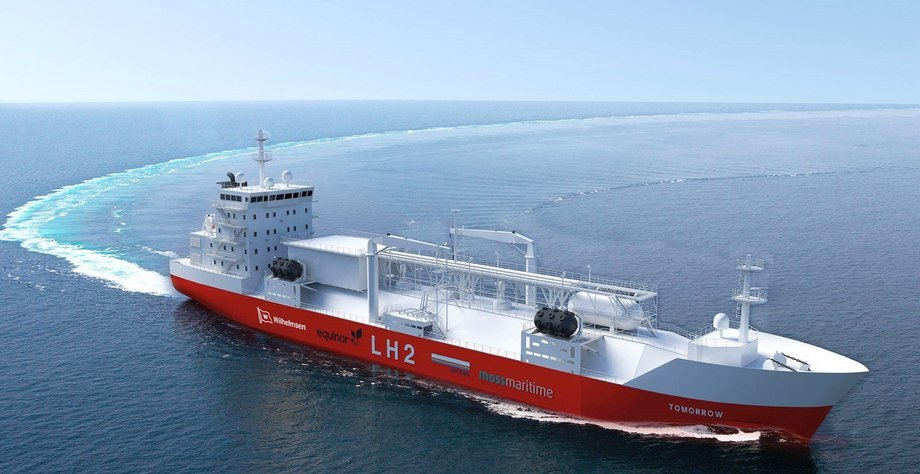 Moss Maritime, Equinor, Wilhelmsen og DNV-GL har sammen utviklet et eget design for å redusere klimaavtrykket fra global skipstransport. Foto: Wilhelmsen