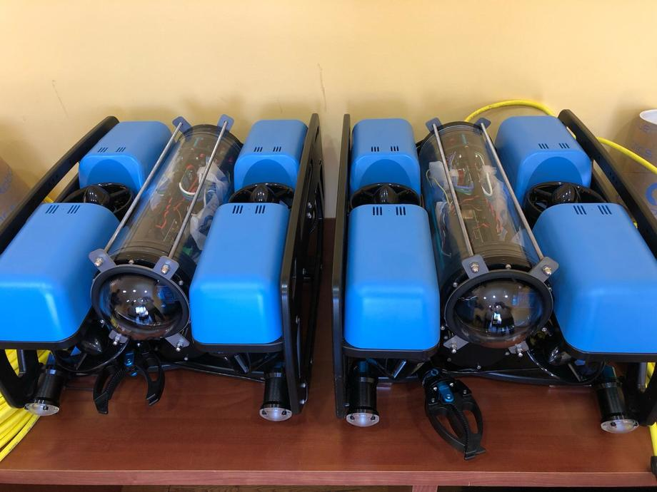 ROVs del nuevo servicio de VacFish. Foto: Tomada del Linkedin de Oliver Wehner, gerente comercial de VacFish.