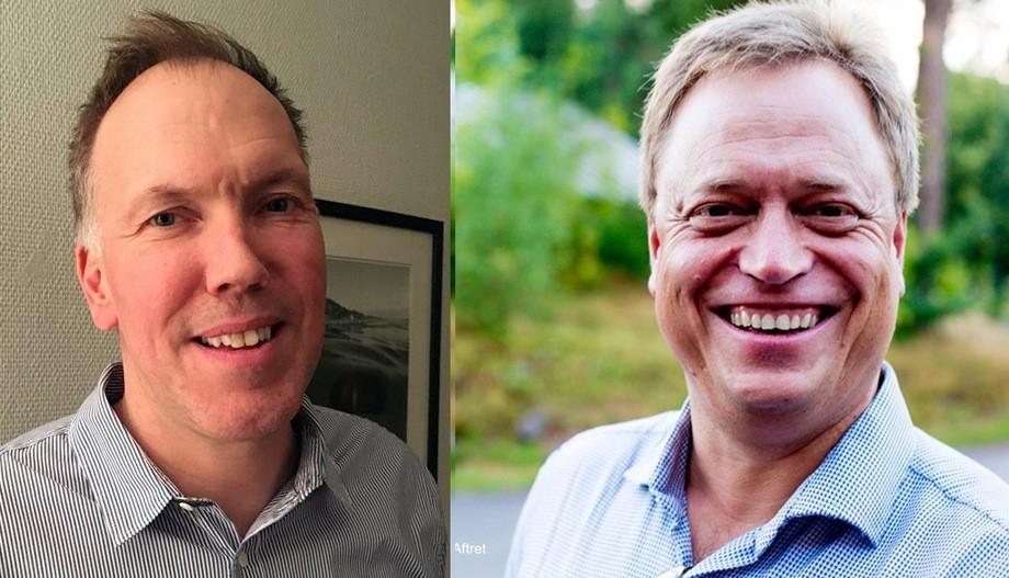 Lars Jørgen Ulvan (45) t.v er ansatt som ny produksjonssjef for smolt og Gunnar S. Aftret (50) t.h er ansatt som ny finansdirektør/CFO i Måsøval Fiskeoppdrett. Foto: privat.