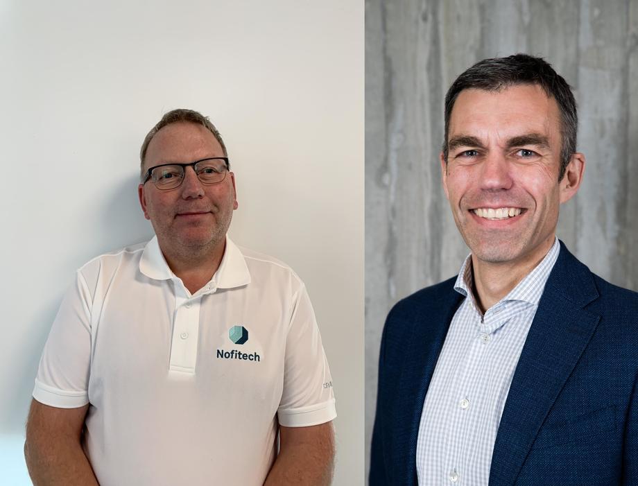 Jostein Five og Robert Hundstad. Foto: Nofitech