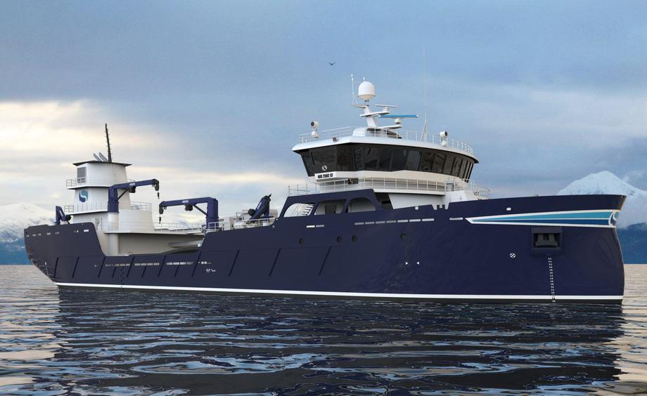 Illustrasjon av brønnbåten. Foto: Aas Mekaniske Verft.