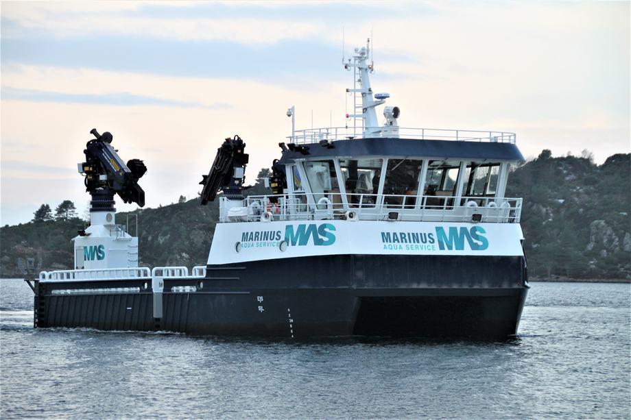 Det tredje fartøyet fra FMV til Marinus Aqua Service er levert