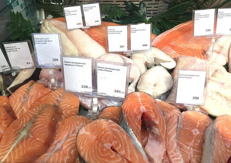 Salmón en mercado ruso. Foto: Archivo Salmonexpert.