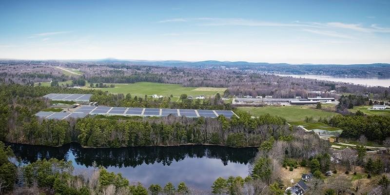 Om alt går etter planen vil Nordic Aquafarm i Maine USA sette spaden i jorden over sommeren. Illustrasjon: Nordic Aquafarm