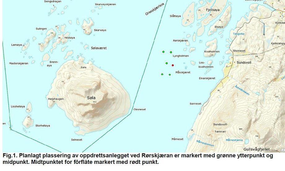 Iverksettelse av vedtaket om utslippstillatelse er blitt utsatt for Mowi Norway AS. Foto: Fylkesmannen i Nordland