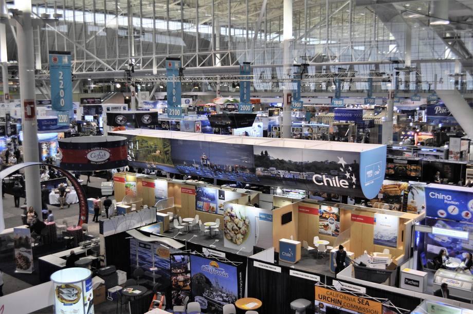 Pabellón chileno en la Seafood Expo North America 2017 de Boston, EE.UU. Foto: Daniella Balin, Salmonexpert.