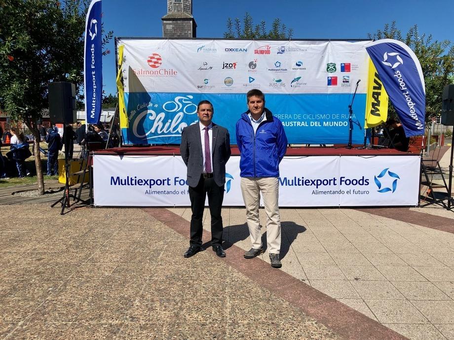 Multiexport Foods fue una de las empresas presentes en la Vuelta a Chiloé. Foto: Multiexport Foods.