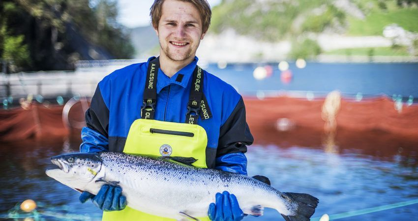 Jørgen Wenberg er ansatt ved Wenberg Fiskeoppdrett, et av eierselskapene i Salten Aqua- Gruppen. Foto: Lars Antonsen.