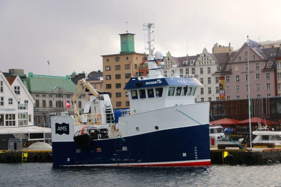 Fartøyet «MS Frøysund» omtales som et kinderegg, der AquamarineServices har 76m3 kapasitet fordelt på tre tanker. Alle tanker med oksygenering og overvåkning av diverse verdier som trengs for å trygge fiskevelferden. Foto: AquaMarineService