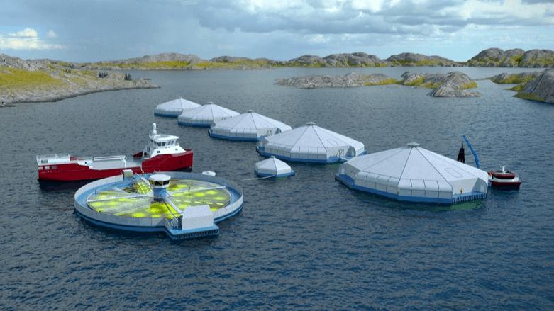La Dirección de Pesca de Noruega rechazó el plan de Biolaks de vincular un biorreactor a jaulas semicerradas. Ilustración: Biolaks.