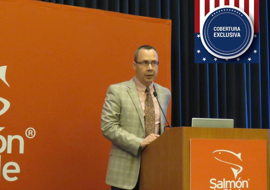 James Griffin,  director ejecutivo del CSMC. Foto: Francisco Soto, Salmonexpert.