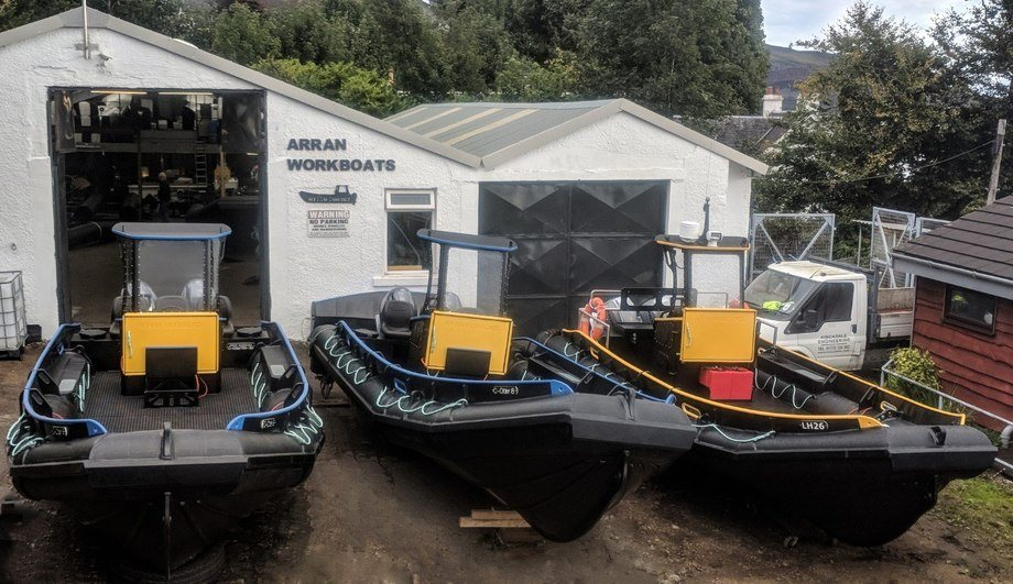 Arran Workboats will supply six of these craft to the Scottish Salmon Company. Photo: SSC.