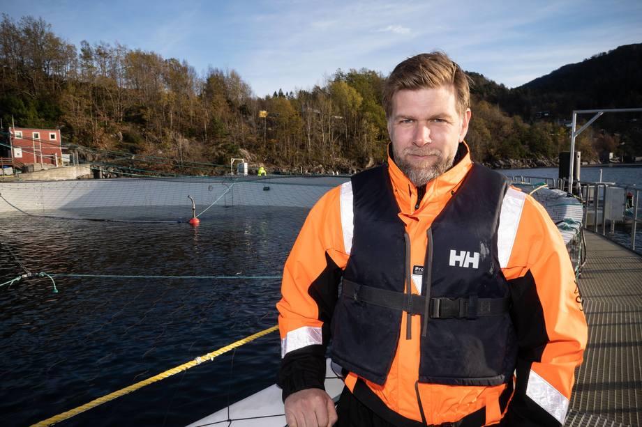 Roger Thorsen, desarrollador de negocios y ventas de Aquafarm Equipment. Foto: Magne Langåker/Sydvest..