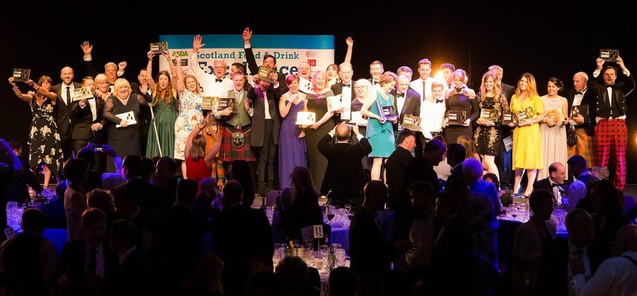 Winners celebrate at the 2017 awards dinner. Photo: Scotland Food & Drink.