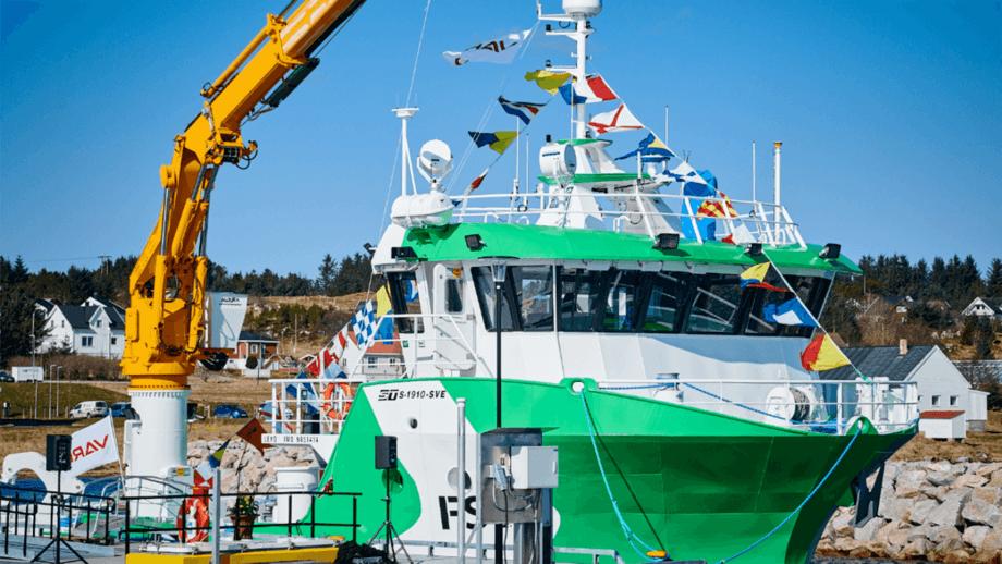 VARD leverer båt nr 2 til FSV. Foto: Kjell Stian Brunes /FSV