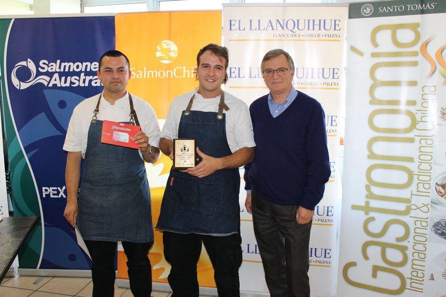 Proceso de premiación del concurso gastronómico. Foto: SalmonChile.