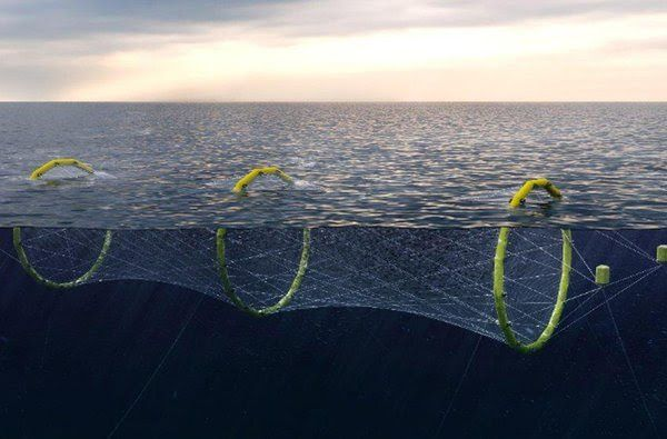 Waveflex-konstruksjonen var en av tre som fikk avslag av Fiskeridirektoratet. Illustrasjon: Pelaqua