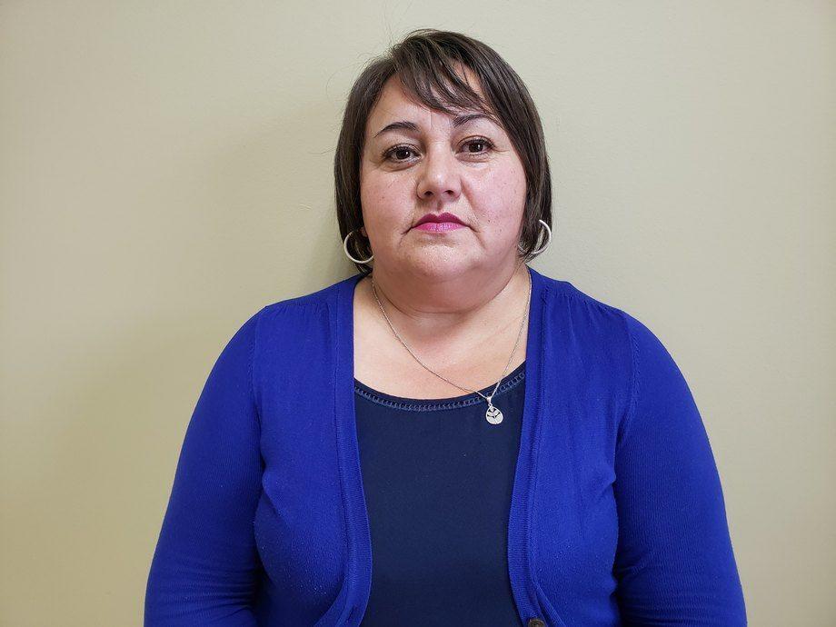 Marta Oyarzo, vocera de la Coordinadora Nacional de la Industria Salmonera y Ramas Afines. Foto: Coordinadora Nacional de la Industria Salmonera y Ramas Afines.