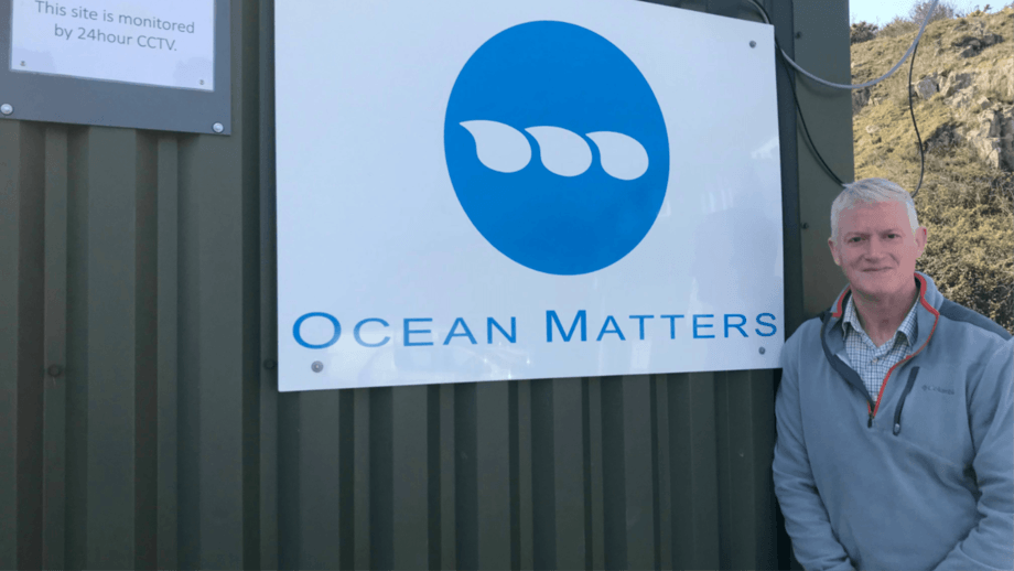Dougie Hunter, Mowi's head of cleaner fish and technical services, at the Ocean Matters site in north Wales. Photo: Mowi Scotland.