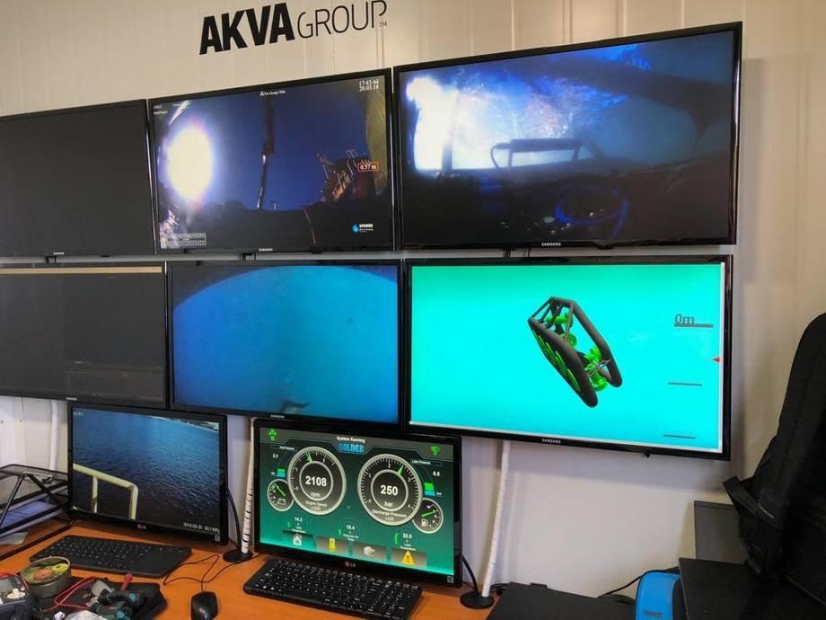 Nuevo robot para limpieza de redes de AKVA group. Foto: AKVA group.