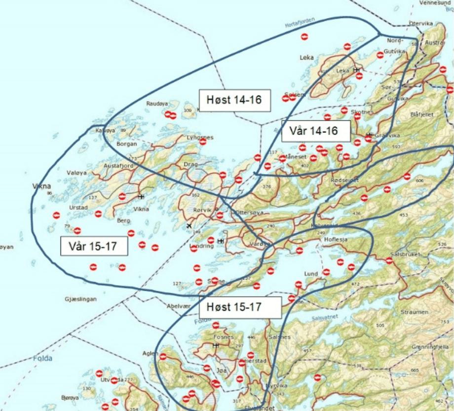 Figur 1: Sonestruktur i Nord-Trøndelag.