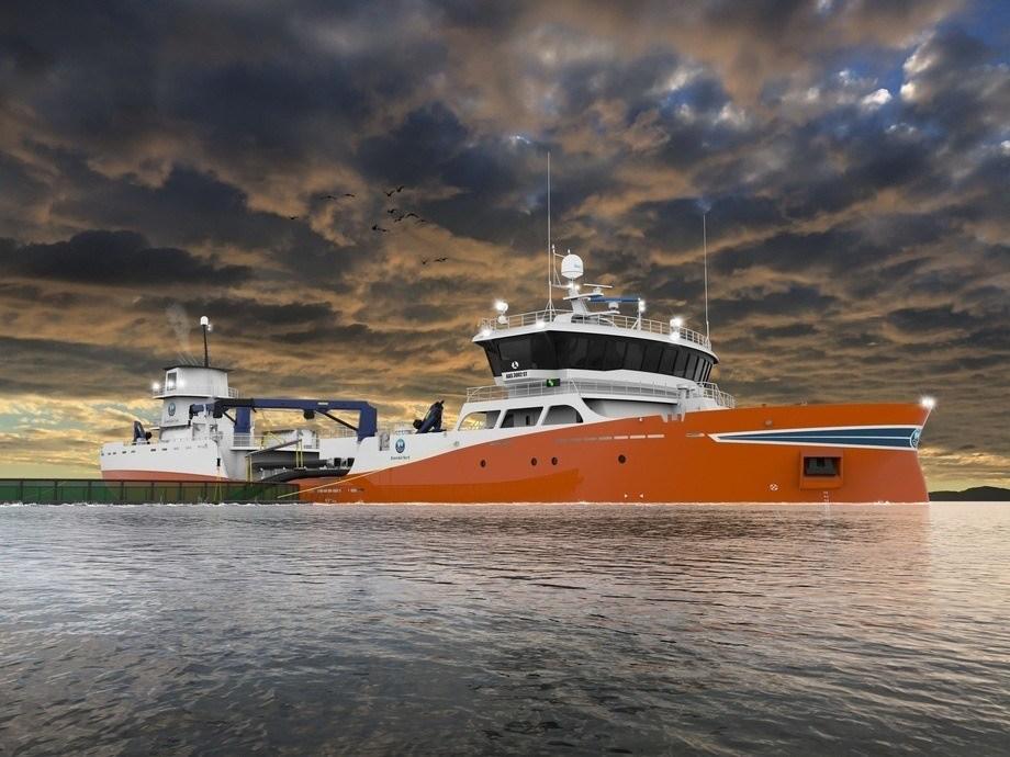 Den nye brønnbåten er nybygg nummer 205 fra Aas Mekaniske Verksted og har lasteromvolum på 3 000 kubikkmeter. Foto: Aas Mekaniske Verksted