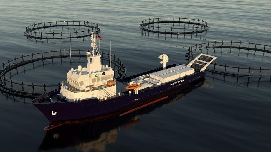 PG-Flow Solutions skal lever et et komplett fiskehåndteringssystem til avlusningsfartøy. Illustrasjon Hydrolicer Production AS.