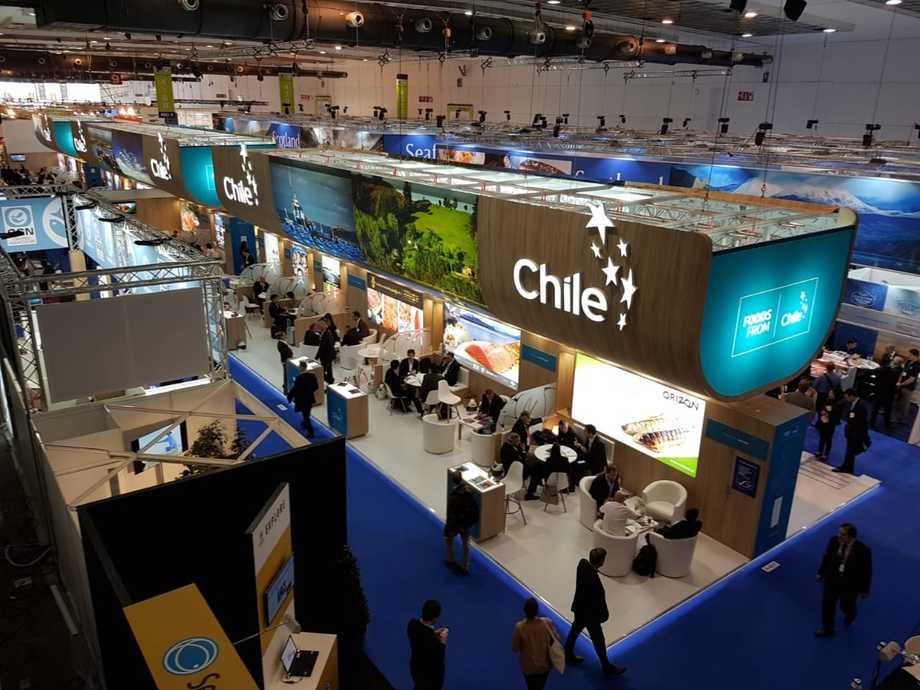 Participación chilena en la Seafood Expo Global 2019. Foto: ProChile.