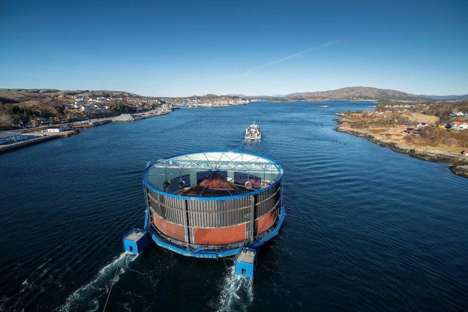 Aquatraz 2 er nettopp tatt i bruk av Midt-Norsk Havbruk. Foto: Steinar Johansen/NTS.