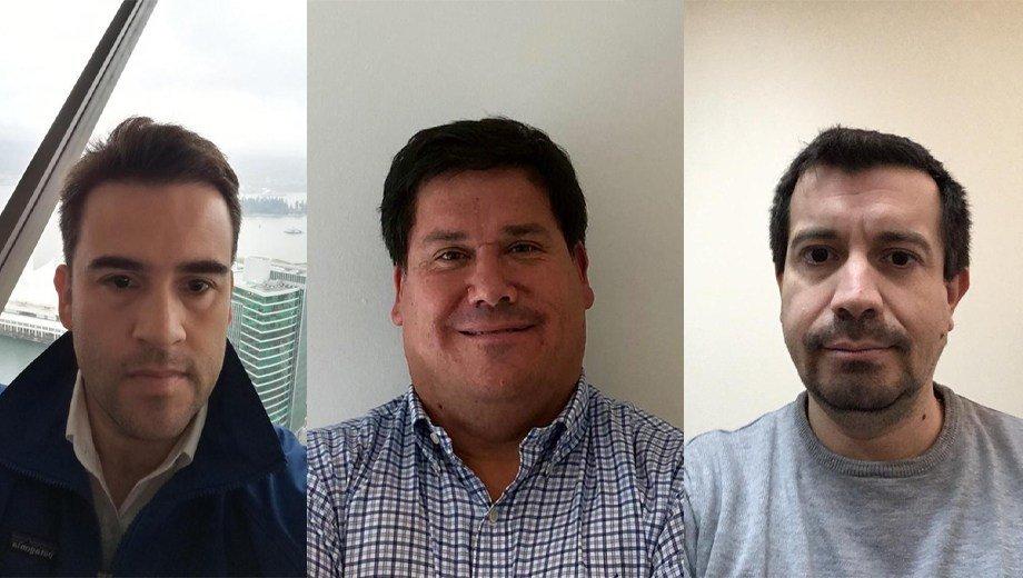 De izquierda a derecha: Miguel Portus, CGO de Lago Sofía Circular Food; Juan Pablo Barrales, gerente de Administración y Ventas de Pentair; y Francisco Albornoz, de la facultad de Agronomía e Ingeniería Forestal de la Pontificia Universidad Católica de Chile. Foto: Lago Sofía Circular Food.