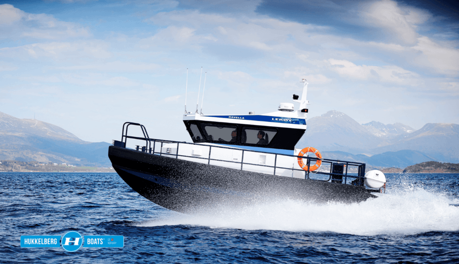 The personnel shuttle was designed by rescue craft maker Hukkelberg in cooperation with Lerøy. Photo: Hukkelberg.