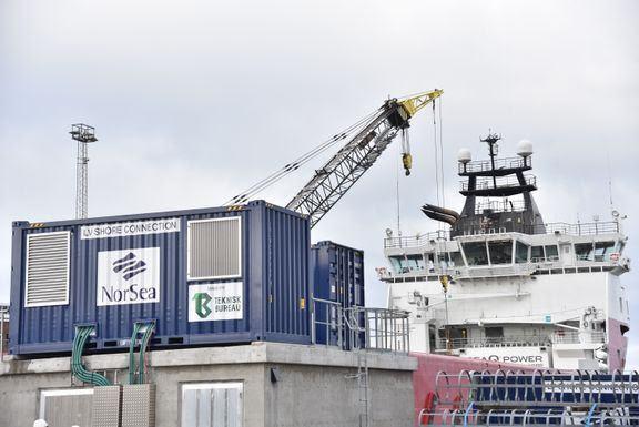 Teknisk Bureau har forsynt NorSea konteinerne som inneholder ABB-omformere. Foto: ABB