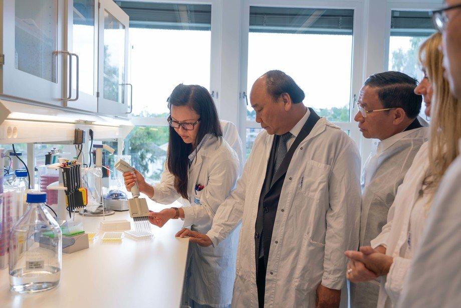Lørdag 25. mai 2019 besøkte den Vietnamesiske Statsministeren Nguyen Xuan Phuc, PHARMAQs globale R&D senter i Oslo. Foto: Pharmaq