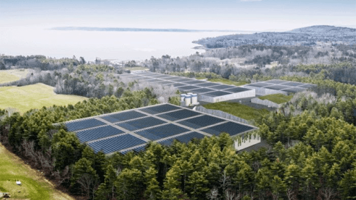 Nordic's Belfast farm will be built in two stages. Image: Nordic Aquafarms.