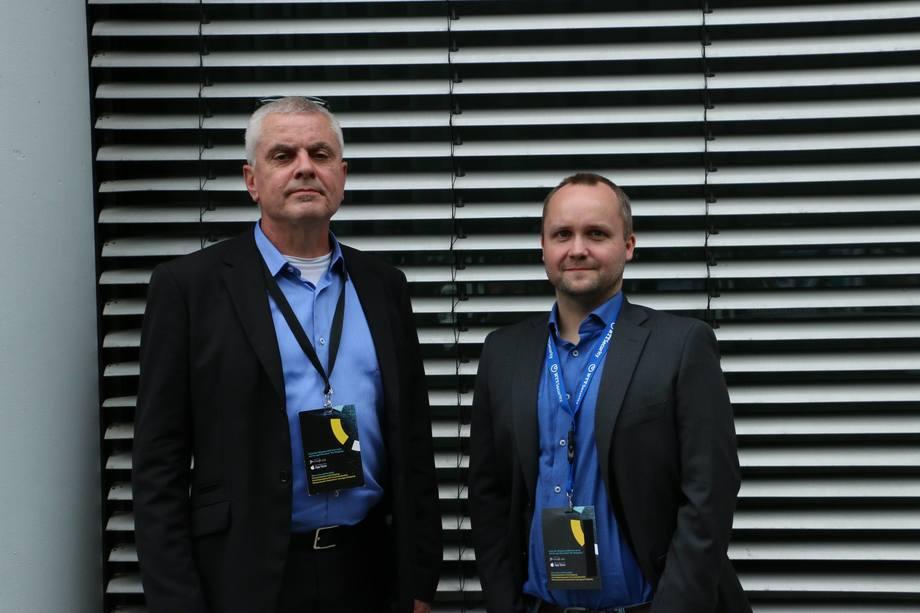 Arnt Ove Nedrebø og John-Andrè Bjørkhaug fra NTT Security advarer om hvor lett det kan være å hacke seg inn på et fartøys systemer