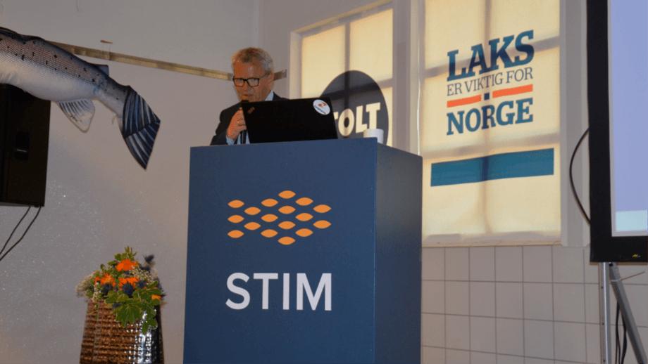 Jim-Roger Nordly during the Lofoten seminar. Photo: Ole Andreas Drønen.