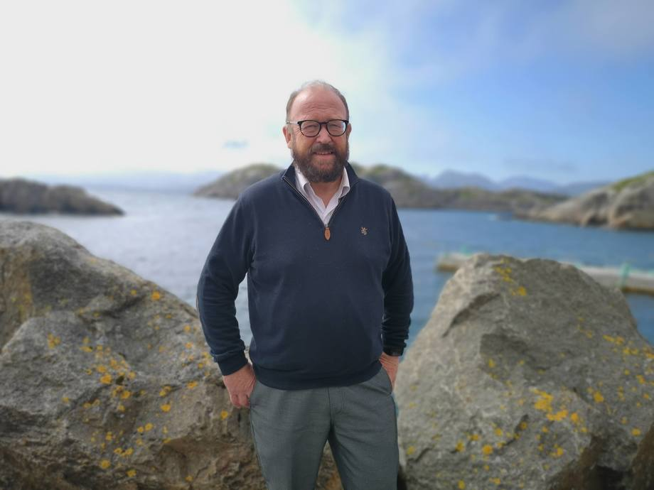 Carl-Erik Arnesen, styreleder i Hav Line. Foto: Ole Andreas Drønen
