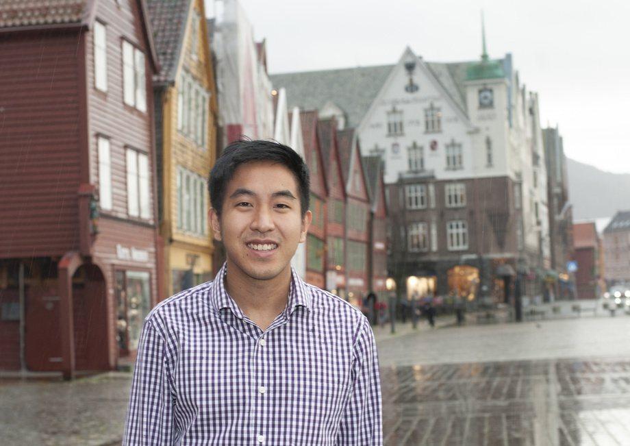 Bryton Shang er grunnlegger og adm. dir i Aquabyte. Nå har han fått hentet inn penger som skal brukes på vekst og geografisk ekspansjon. Foto: Pål Mugaas Jensen