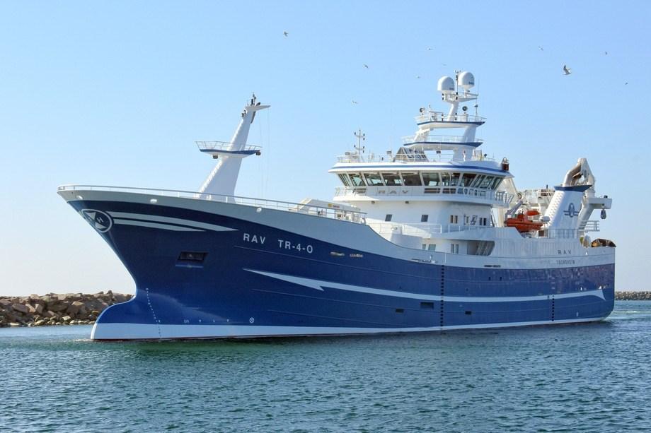 «Rav» ble døpt 6. april 2019. Foto: Karstensen Skibsværft