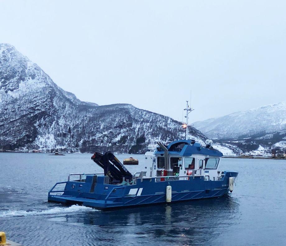 Arbeidskatamaranen «Kurth O» er levert til Trollvika Drift