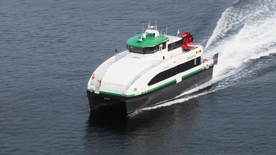 Norges første hybride hurtigbåt, «Fjordled» er levert til Norled fra GS Marine