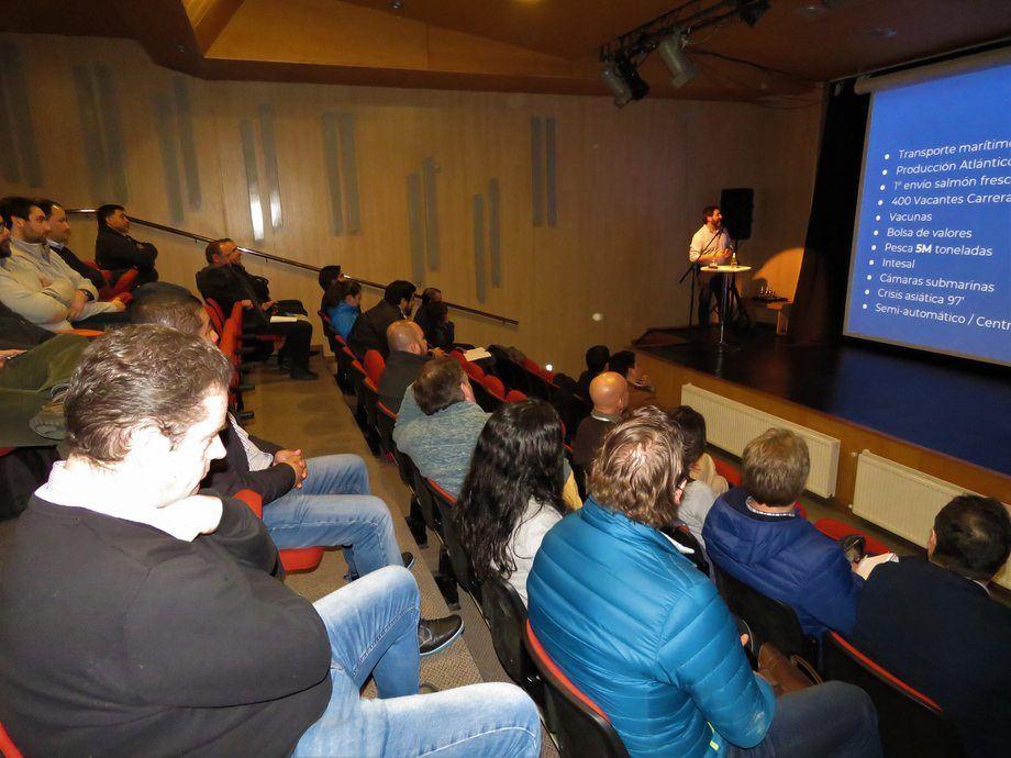 Zacarías Sharon, socio fundador de Tecnovum, organizadora del evento. Foto: Karla Faundez, Salmonexpert.