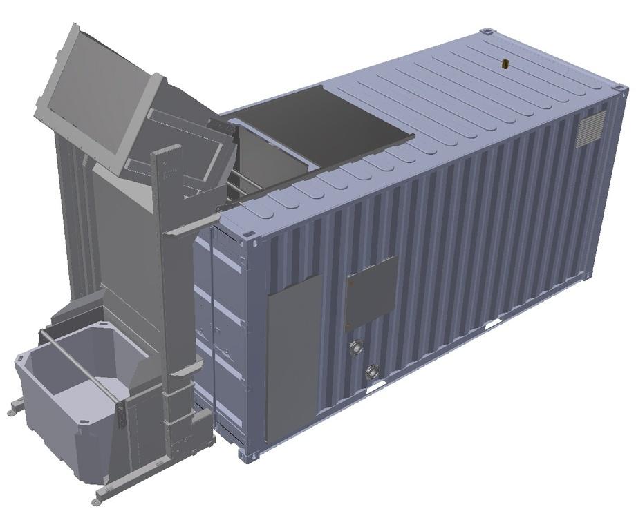 Mobilt beredskapssystem for dødfisk håndtering og ensilering. Foto: MMC First Process